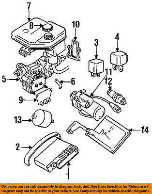 JAGUAR OEM 88-96 XJS ABS Anti-lock Brake Accumulator JLM1907 For Sale