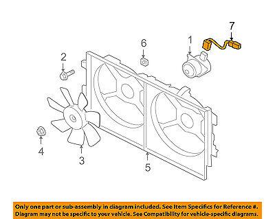 MITSUBISHI OEM 08-15 Lancer Engine Cooling Fan-Wiring Harness
