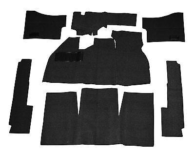 EMPI VW BUG BEETLE BAJA CARPET KIT 69-72 WITHOUT FOOT REST ,BLACK