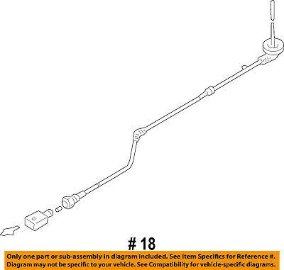 VW VOLKSWAGEN OEM GTI ABS Anti-Lock Brakes Front-Sensor Wire Left