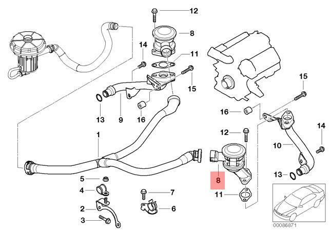 Genuine BMW E60 E61 E63 EGR Valve Exhaust Gas Recirculation OEM