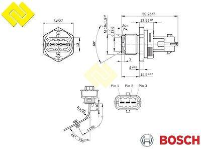Genuine BOSCH 0281006187 CR FUEL PRESSURE SENSOR 1800 bar ,for