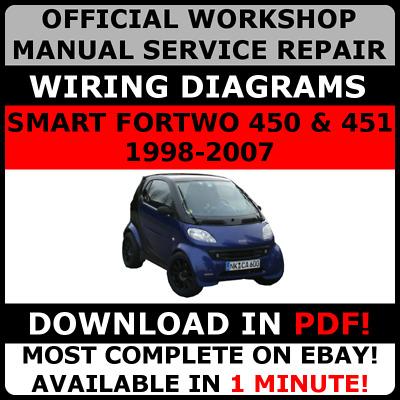 OFFICIAL WORKSHOP Repair MANUAL for SMART FORTWO 450  451 1998-2007