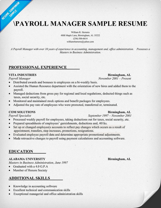 Accounting Resume Templates Sample Contractor Helper Resume Resumes Payroll  Specialist Resume Sample Accounting Job Resume Payroll  Payroll Resume