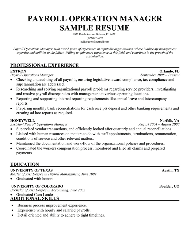 cheap argumentative essay proofreading site uk resume format for payroll resume payroll resume template - Payroll Operation Manager Resume