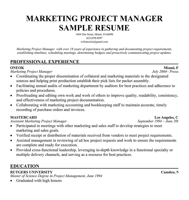 Marketing Director Resume Examples - Template