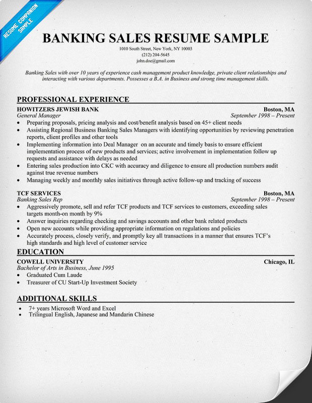 banking sales resume - 28 images - 54 manager resumes in pdf free