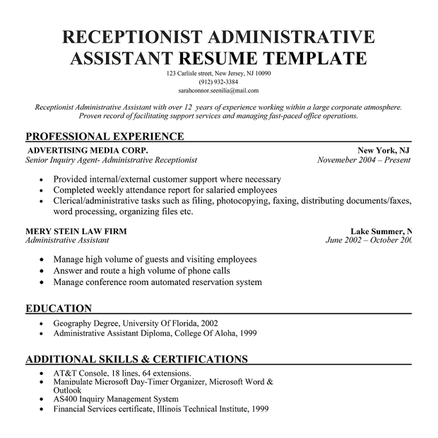 nursing secretary resume development essay history international - sample administrative assistant resumes