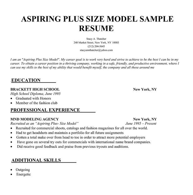 models resume