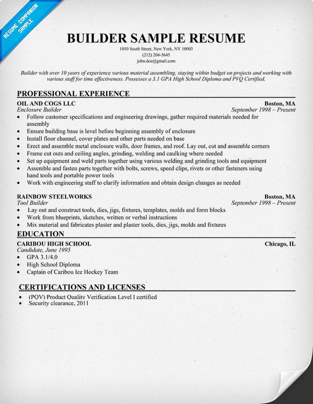 Resume Builder For High School Students   berathen Com LearnHowToLoseWeight net