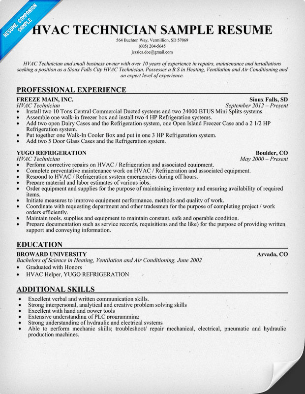hvac resume objective rockcuptk hvac resume objective