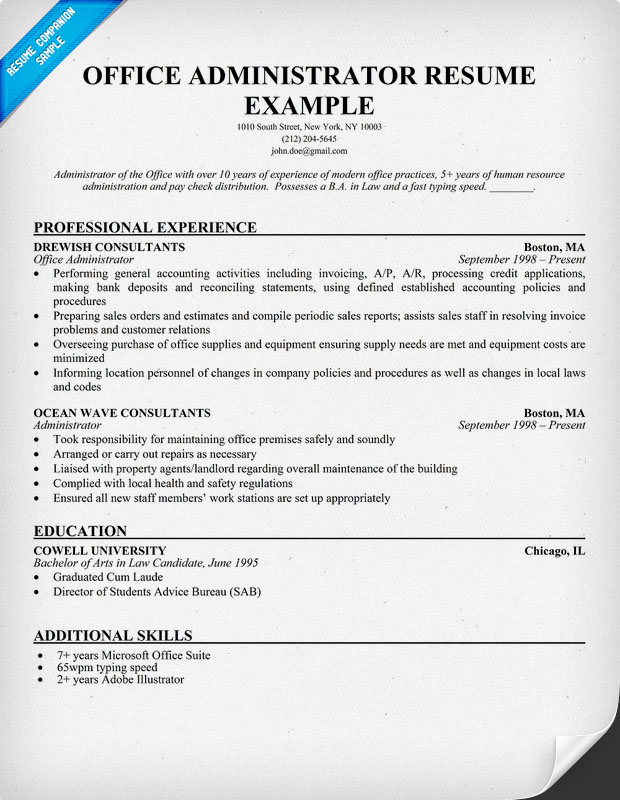 Project Administrator Resume Templates Project Administration Sample Resume