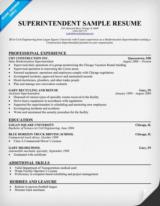 building superintendent cover letter examples