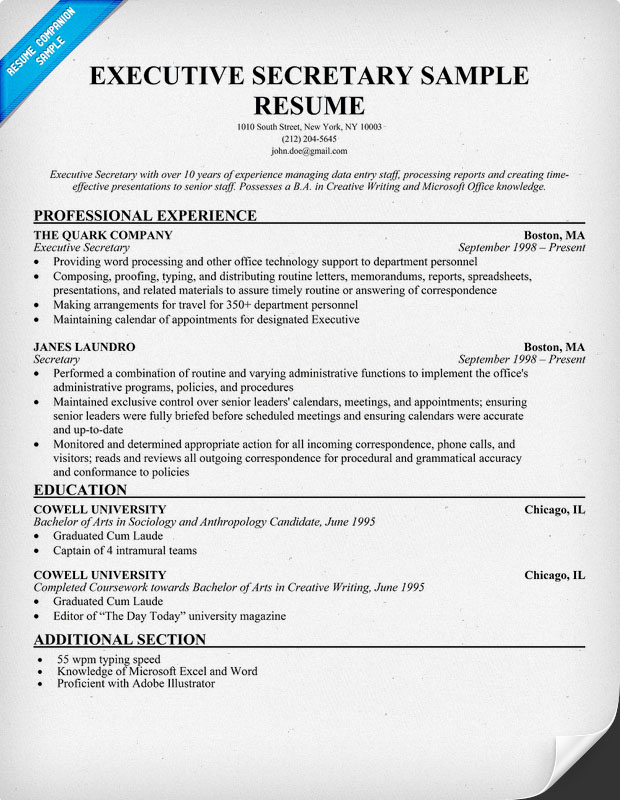 executive resume writers boston