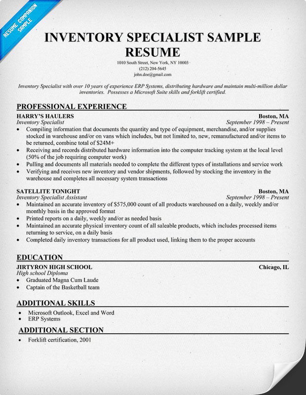 specialist inventory resume samples inventory resume sample rockcuptk inventory resume samples