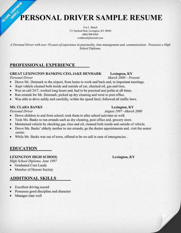 chauffer resume resume genius sample resume for coach driver driver resume flatbed truck driver resume financial - Sample Resume For Coach Driver