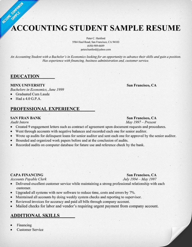 Resume Guide Uw School Of Public Health Accounting Resume Samples Quotes