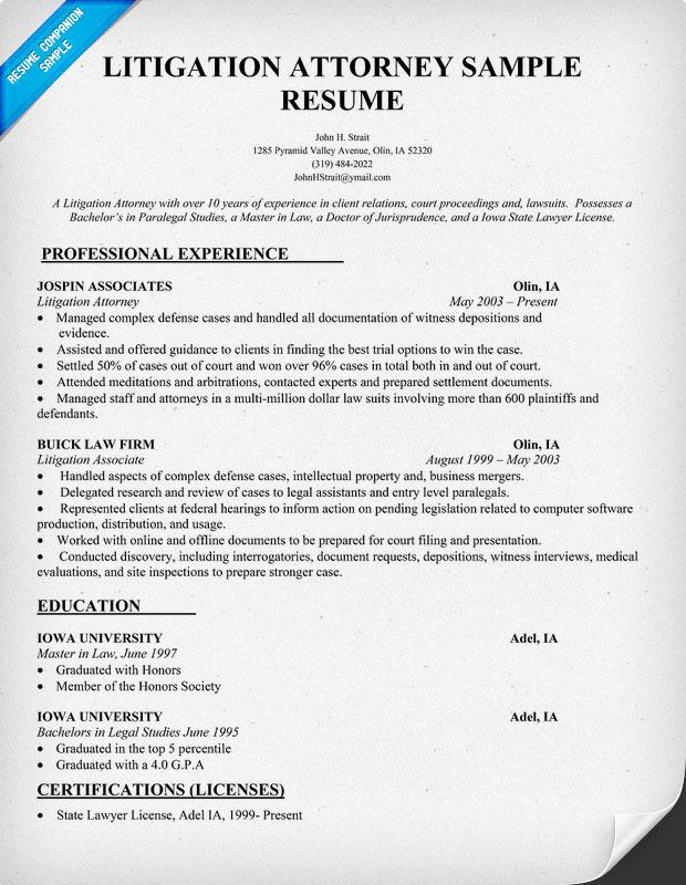 Curriculum Vitae Attorney | Resume Pdf Download