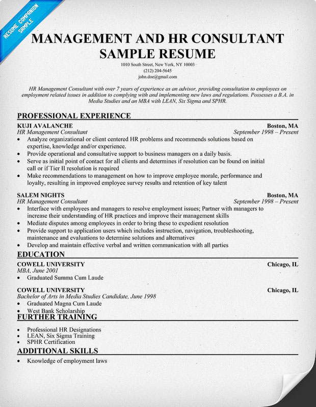 consultant resume samples - Ozilalmanoof - resume consulting