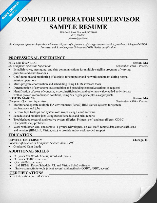 Entry level networking resume