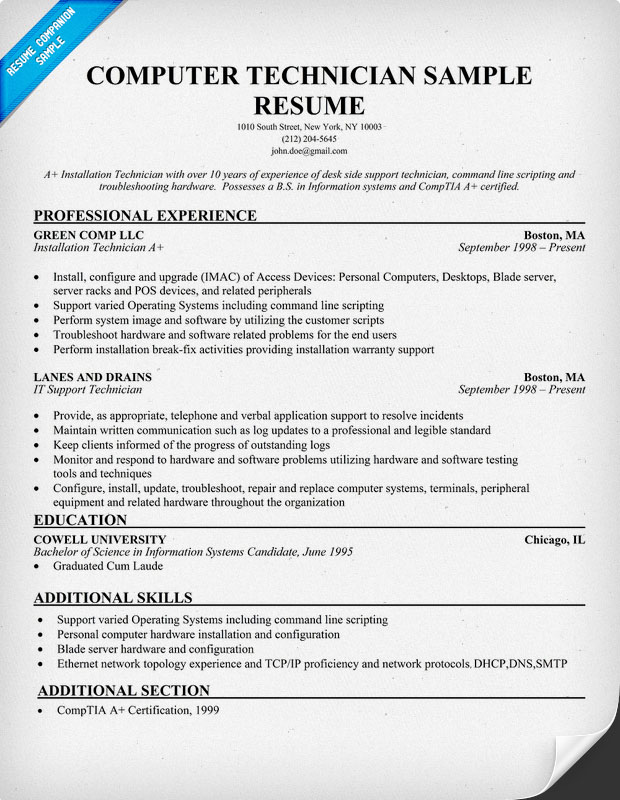Pharmacy Tech Sample Resume  Resume Cv Cover Letter