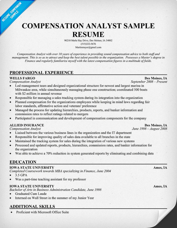 compensation analyst resume - 28 images - 100 compensation analyst - Compensation Analyst Resume