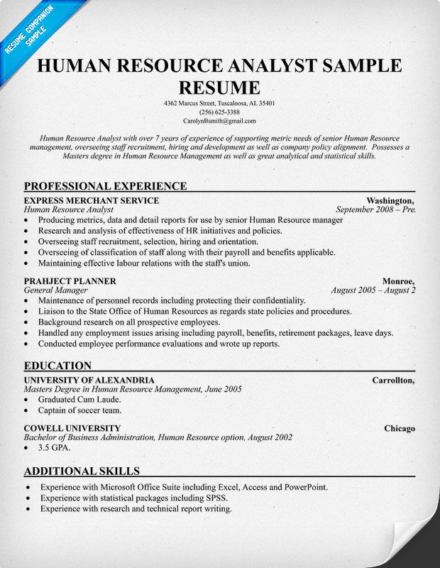 sample resume for hr recruiter fresher sample resume for hr fresher careerride human resources generalist resume