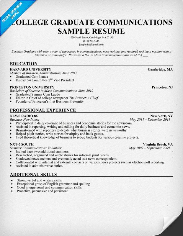 Resume Template For Recent College Graduate Resume Sample Resume Resource  Cv Work Experience Resume Templates For  College Graduate Resume Template