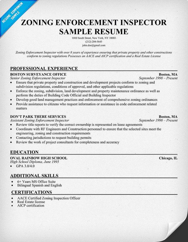 construction inspector resume samples - Thevillas