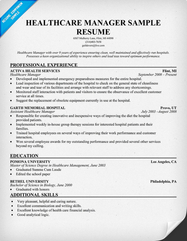 manager resume examples
