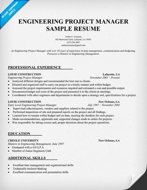 Project Management Resume Format | Resume Format And Resume Maker