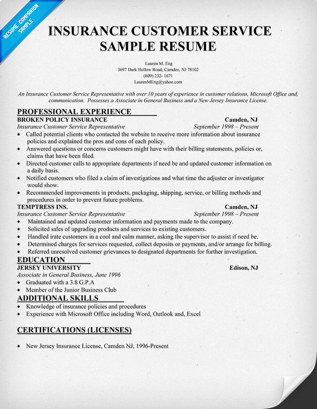 Insurance Agent Resume Job And Resume Template  Insurance Agent Resume Sample