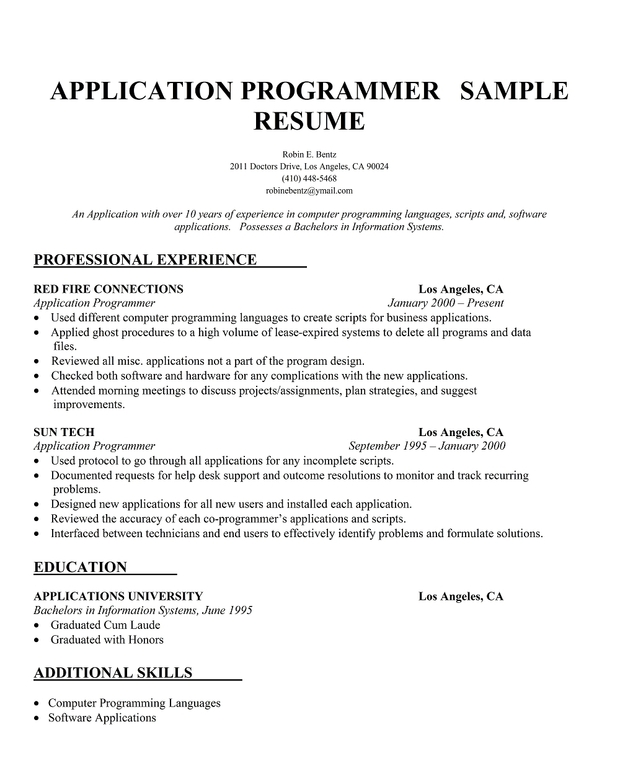 php web developer resume sample resume template essay sample free essay sample free - Computer Programmer Resume Examples