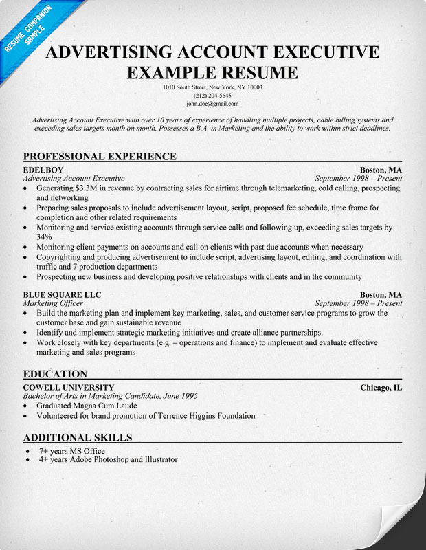 Sales Fashion Resume The Following Pr Account Executive Cover Letter  Template Lists The With Account Executive