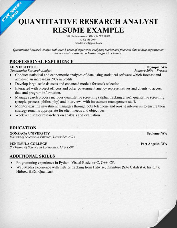 Math Teacher Resume Examples Business Analyst Quantitative Analyst Resume  Credit Analyst Resume Quantitative Research Analyst Resume  Quantitative Analyst Resume
