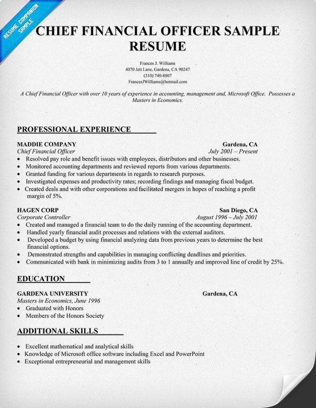 Best Resume Format Cfo - fius