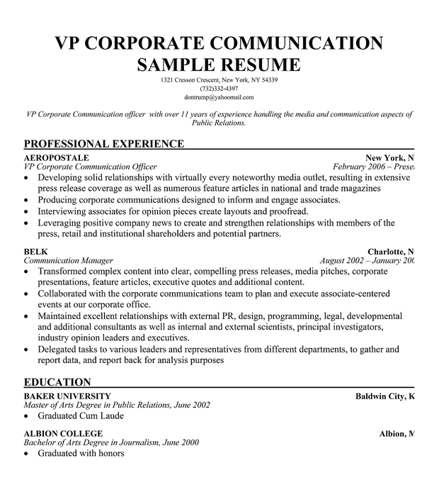 communications manager resume exle marketing consultant