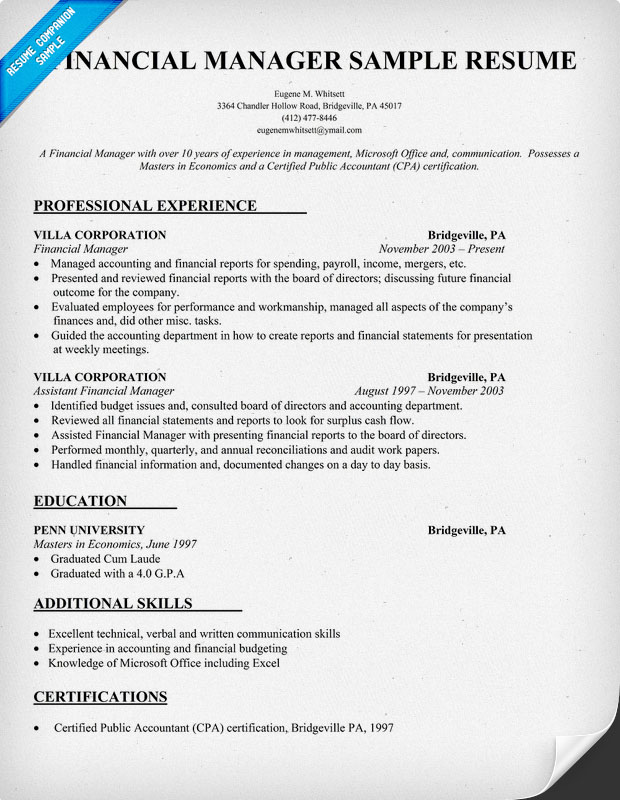 Academic Papers Everything English Sample Resume For Finance