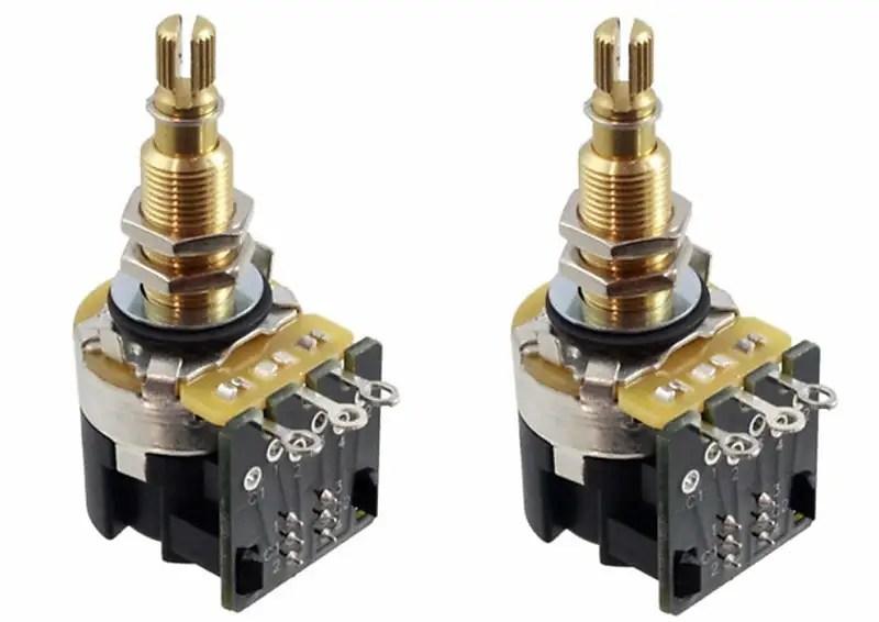 CTS 500K Push Pull Long Shaft Audio Taper Potentiometers 2 Reverb