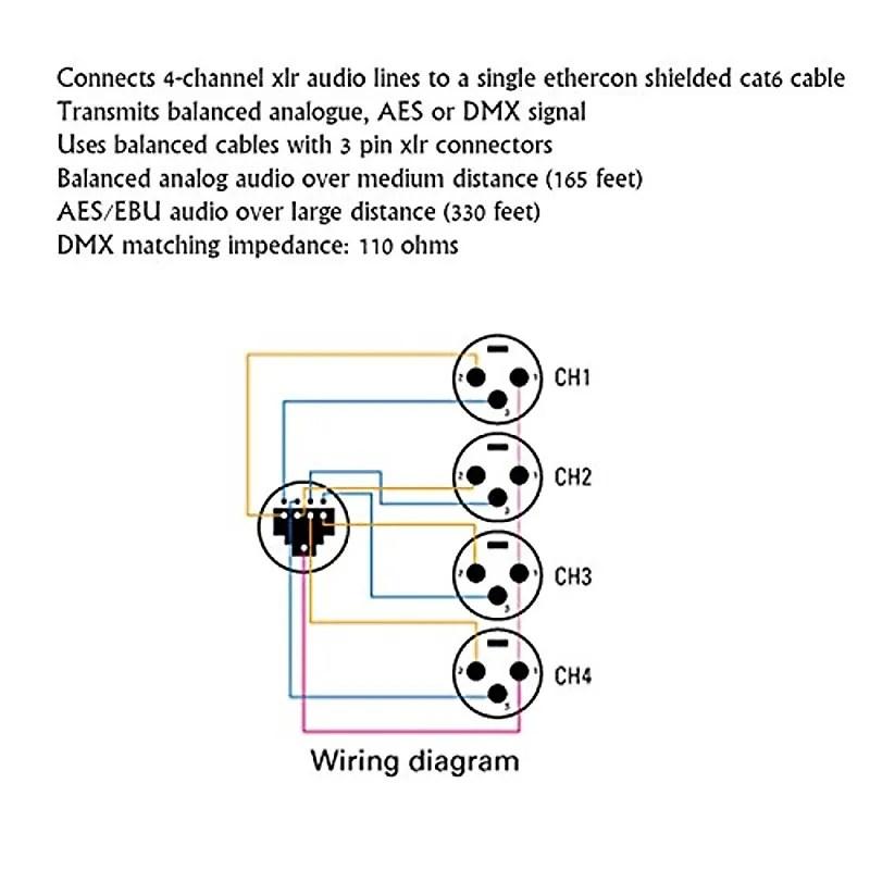 LyxPro 4-Channel XLR Professional 3-Pin Multi Network Breakout for Stage   Recording Studio â\u20ac\u201c XLR Female Configuration