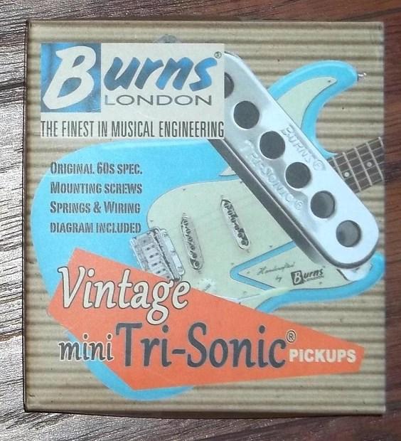 Burns® London Vintage Mini Tri-Sonic® Pickup Set~Chrome~Fits Reverb
