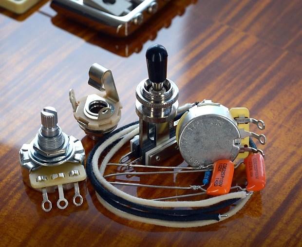 PRS SE Custom 22 Deluxe Wiring Kit CTS, Orange Drop, Reverb