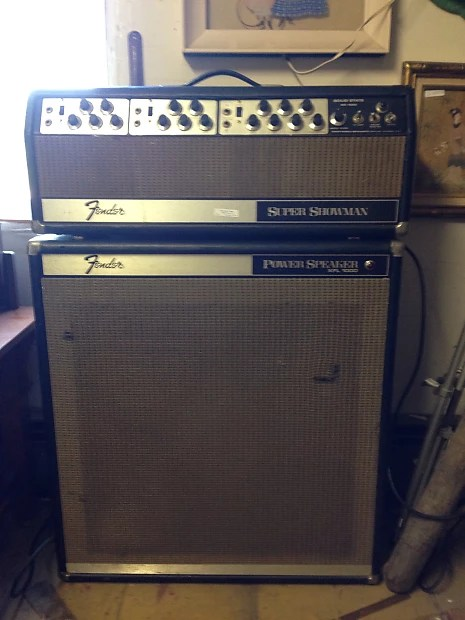 Cloth Cabinet Fender Super Showman Half Stack 1968 | Reverb