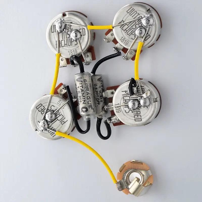 Firebird Wiring Harness 550k VIPots Centralab Spec Vitamin Q Reverb