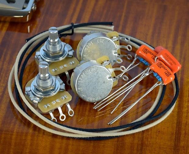 PRS SE 245 Essentials Wiring Kit CTS, Orange Drop, Treble Reverb
