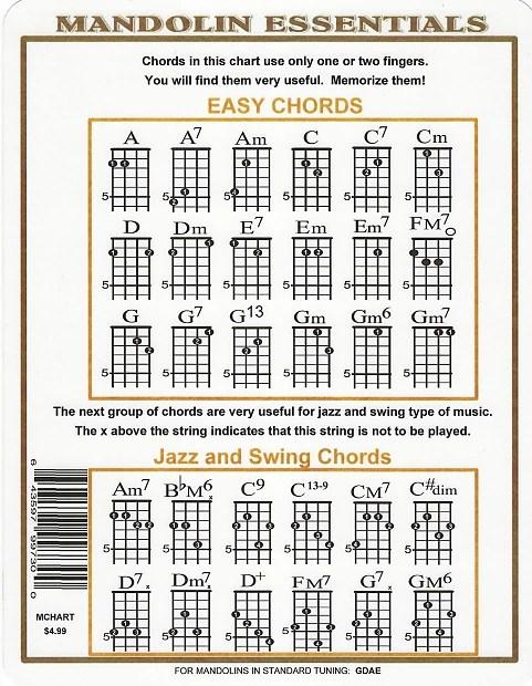 Mandolin Chord Chart for G D A E Music Go Round - St Paul Reverb - mandolin chord chart