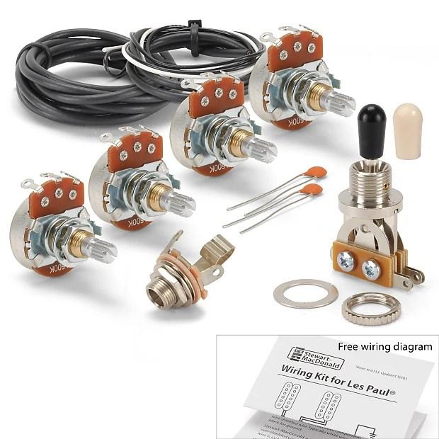 Golden Age Wiring Kit for Gibson Les Paul Guitar, Standard Reverb