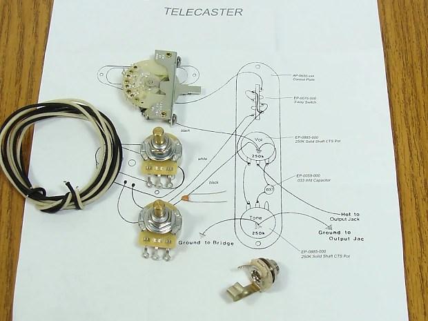 NEW Tele Pots Switch  Wiring Kit for Fender Telecaster Reverb