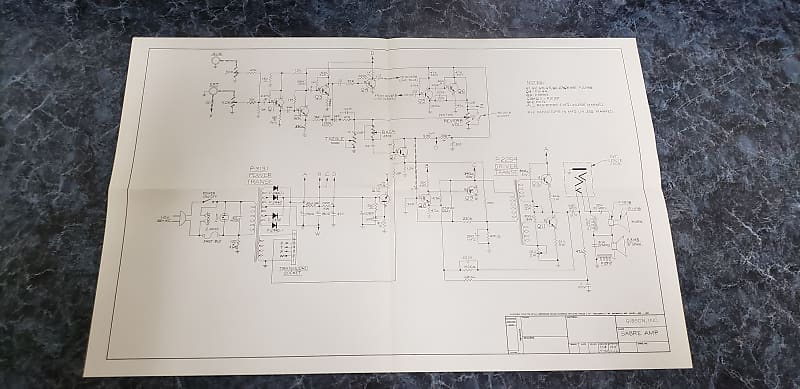 Vintage Original Gibson Sabre Amp Wiring Diagram 1965 Reverb