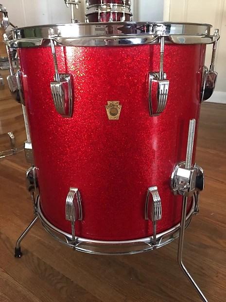 Ludwig 14quot Super Classic Floor Tom 196039s Red Reverb